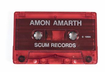 Amon Amarth The Arrival Of The Fimbul Winter, Scum records sweden, cassette red