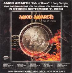 Amon Amarth Fate Of Norns, Metal Blade records usa, CD Promo