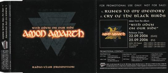 Amon Amarth With Oden On Our Side, Metal Blade records europe, Single Promo