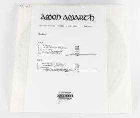 Amon Amarth Versus The World, Metal Blade records germany, LP Test Pressing