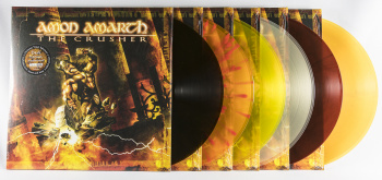 Amon Amarth The Crusher, Metal Blade records europe, LP orange/brown