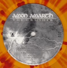 Amon Amarth The Crusher, Metal Blade records europe, LP yellow/red