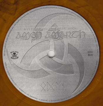 Amon Amarth With Oden On Our Side, Metal Blade records europe, LP amber